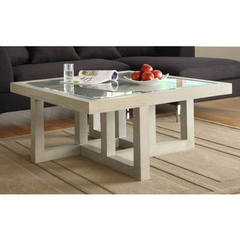 Buy Homelegance Guerrero Contemporary 40 Inch Square Cocktail Table in Light Wood on sale online