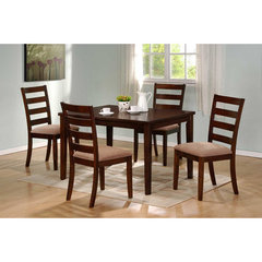 Buy Hale 5 Piece Dining Room Set in Medium Brown on sale online