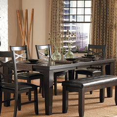 Buy Homelegance Hawn Rectangular 64x42 Dining Table in Rich Walnut on sale online