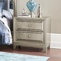 Buy Homelegance Hedy 2 Drawer Nightstand in Graphite Grey on sale online