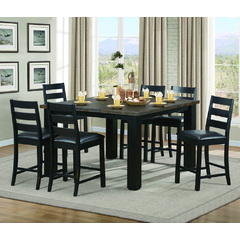 Buy Homelegance Hyattsville 7 Piece 60x60 Counter Height Table in Black on sale online