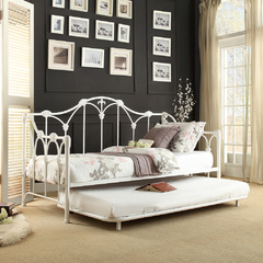 Buy Homelegance Julia Metal Daybed w/Trundle in White on sale online