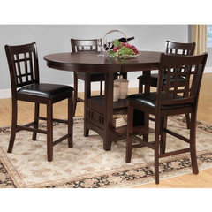 Buy Homelegance Junipero 5 Piece Counter Height Set in Dark Cherry on sale online
