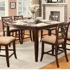 Buy Homelegance Keegan 60x46 Counter Height Table in Rich Brown Cherry on sale online