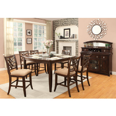 Buy Homelegance Keegan 8 Piece 60x46 Counter Height Set in Rich Brown Cherry on sale online