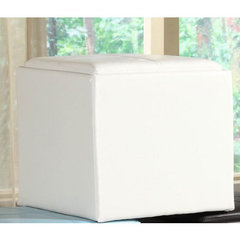 Buy Homelegance Ladd Storage Cube Ottoman in White on sale online