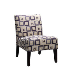 Buy Homelegance Lifestyle 468F4S Armless Lounge Chair in Blue Geometric Patterns on sale online
