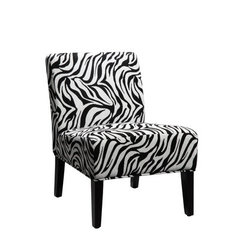 Buy Homelegance Lifestyle 468F6S Armless Lounge Chair in  Wild Zebra on sale online