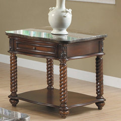 Buy Homelegance Lockwood 26 Inch Square End Table in Mahogany on sale online