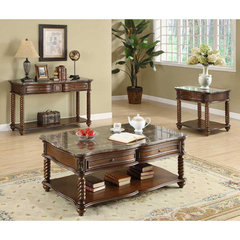 Buy Homelegance Lockwood 3 Piece Occasional Table Set in Mahogany on sale online