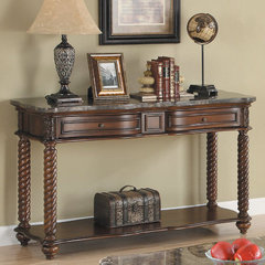Buy Homelegance Lockwood Rectangular 50x19 Sofa Table in Mahogany on sale online