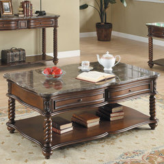 Buy Homelegance Lockwood Rectangular 50x30 Cocktail Table in Mahogany on sale online