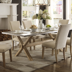 Buy Homelegance Luella 84x40 Dining Table in Weathred Oak on sale online