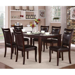 Buy Maeve 7 Piece 54x38 Dining Room Set in Cherry on sale online