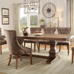 Buy Homelegance Marie Louise 78x42 Extension Dining Table in Rustic Weathered Oak on sale online