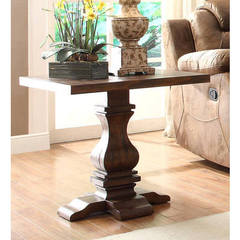 Buy Homelegance Marie Louise Traditional Rectangular End Table in Brown on sale online