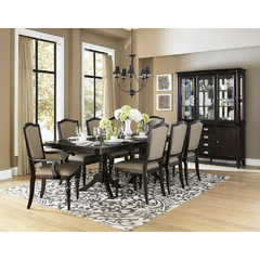 Buy Homelegance Marston 10 Piece 76x42 Extension Dining Room Set in Dark Cherry on sale online