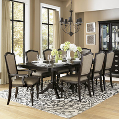 Buy Homelegance Marston 9 Piece 76x42 Extension Dining Room Set in Dark Cherry on sale online