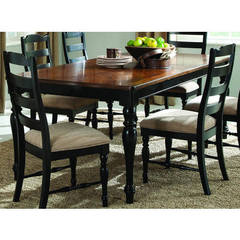 Buy Homelegance Mckean Casual 66x42 Rectangular Dining Table in Black, Cherry on sale online