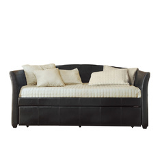 Buy Homelegance Meyer Daybed w/ Trundle in Dark Brown Bi-Cast Vinyl on sale online