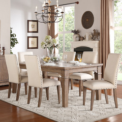 Buy Homelegance Mill Valley 7 Piece 66x42 Dining Room Set in Weathered Wash  on sale online