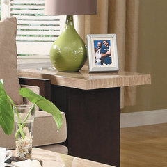 Buy Homelegance Mooney Rectangular 26x16 End Table in Rich Dark Cherry on sale online