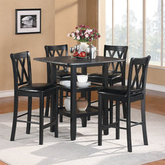 Buy Homelegance Norman 5 Piece 39x39 Square Counter Height Set in Black on sale online