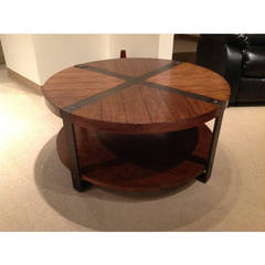 Buy Homelegance Northwood Contemporary 40 Inch Round Cocktail Table in Brown on sale online
