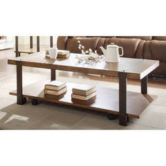 Buy Homelegance Northwood Contemporary 52x28 Rectangular Cocktail Table in Brown on sale online