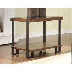 Buy Homelegance Northwood Contemporary Rectangular End Table in Brown on sale online