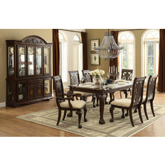 Buy Homelegance Norwich 8 Piece 64x42 Extension Dining Room Set in Cherry on sale online
