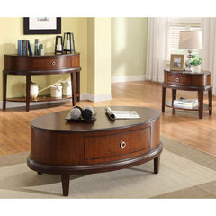 Buy Homelegance Ocala 3 Piece 48x30 Occasional Table Set in Cherry on sale online