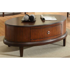 Buy Homelegance Ocala Contemporary 48x30 Oval Cocktail Table in Cherry on sale online