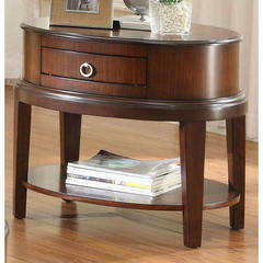 Buy Homelegance Ocala Contemporary Oval End Table in Cherry on sale online