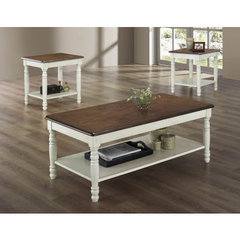 Buy Homelegance Ohana 3 Piece Occasional Table Set in White on sale online