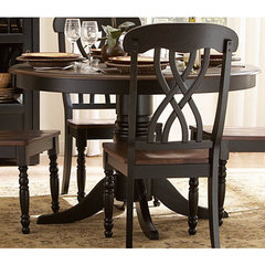 Buy Homelegance Ohana 48 Inch Round Dining Table in Antique Black on sale online