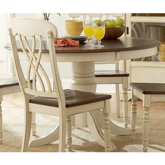 Buy Homelegance Ohana 48 Inch Round Dining Table in Antique White on sale online