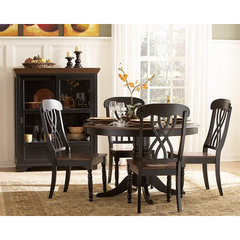Buy Homelegance Ohana 5 Piece 48 Inch Round Dining Room Set in Antique Black on sale online