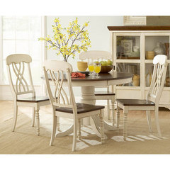 Buy Homelegance Ohana 5 Piece 48 Inch Round Dining Room Set in Antique White on sale online