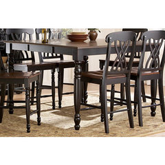 Buy Homelegance Ohana 54x36 Counter Height Table in Antique Black on sale online