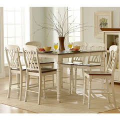 Buy Homelegance Ohana 7 Piece 54x36 Counter Height Set in Antique White on sale online
