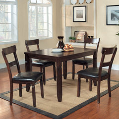 Buy Homelegance Oklahoma 5 Piece Rectangular 48x36 Dining Room Set in Espresso on sale online