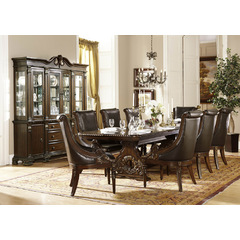 Buy Homelegance Orleans 10 Piece 94x44 Dining Room Set w/ Buffet in Cherry on sale online