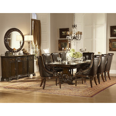 Buy Homelegance Orleans 10 Piece 94x44 Dining Room Set w/ Server in Cherry on sale online