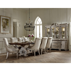 Buy Homelegance Orleans II 10 Piece 94x44 Dining Room Set w/ Buffet in Washed White on sale online
