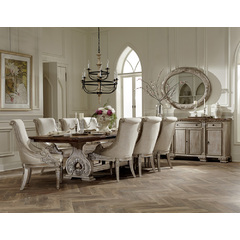 Buy Homelegance Orleans II 10 Piece 94x44 Dining Room Set w/ Server in Washed White on sale online