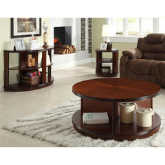 Buy Homelegance Orlin 3 Piece 42 Inch Occasional Table Set in Cherry on sale online