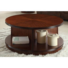 Buy Homelegance Orlin Contemporary 42 Inch Round Cocktail Table in Cherry on sale online
