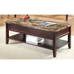 Buy Homelegance Orton Contemporary 48x24 Rectangular Cocktail Table in Brown on sale online