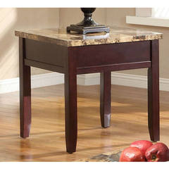 Buy Homelegance Orton Contemporary Square End Table in Brown on sale online